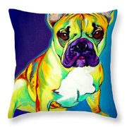 Frenchie - Tugboat Throw Pillow by Alicia VanNoy Call