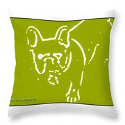 Frenchielove Design Chartreuse Throw Pillow