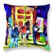 Frenchman Street Throw Pillow