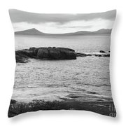 Esperance Bay Bw Throw Pillow