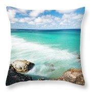 Frenchmans Beach On Stradbroke Island, Queensland. Throw Pillow