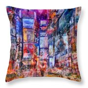 Frenzy New York City Throw Pillow