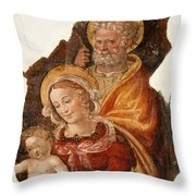 Fresco Holy Family Throw Pillow