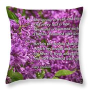 Fresh And Fearless Throw Pillow