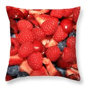 Fresh Berry Salad  Throw Pillow