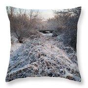 Fresh Blanket Of White Throw Pillow