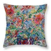 Fresh Bouquet Throw Pillow