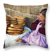 Fresh Bread Throw Pillow