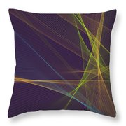 Fresh Computer Graphic Line Pattern Throw Pillow