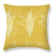Fresh Corn- Art By Linda Woods Throw Pillow by Linda Woods