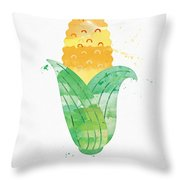 Fresh Corn Throw Pillow