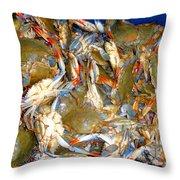Fresh Crab In Market Throw Pillow