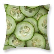Fresh Cucumbers Throw Pillow