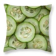 Fresh Cucumbers Throw Pillow
