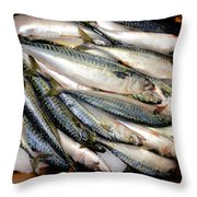 Fresh Fishes In A Market 2 Throw Pillow