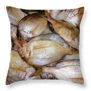 Fresh Fishes In A Market 4 Throw Pillow