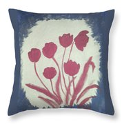 Fresh Flowers- 1st In Series-morning Shadow Throw Pillow