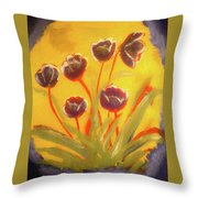 Fresh Flowers- 2nd In Series- The Dawn Throw Pillow