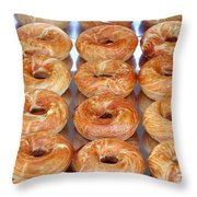 Fresh Frosted Doughnuts On Sale Throw Pillow