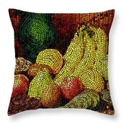 Fresh Fruit Tiled Throw Pillow