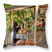 Fresh Fruits For The Day Throw Pillow