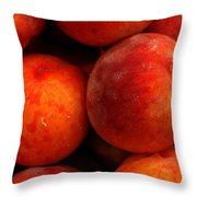 Fresh Fuzzy Peaches Throw Pillow