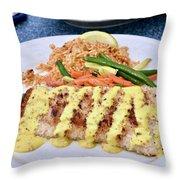 Fresh Grilled Mahi Mahi Throw Pillow
