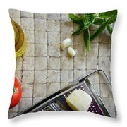 Fresh Italian Cooking Ingredients Throw Pillow