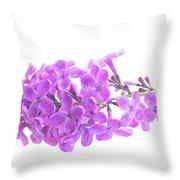 Fresh Lilac Throw Pillow