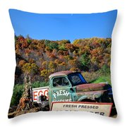 Fresh Mountain Produce Throw Pillow