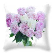 Vase Of Peonies Throw Pillow
