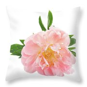 Peony Flower Bud Throw Pillow