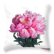 Peony Gift Throw Pillow