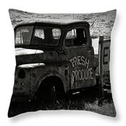 Fresh Produce Free Range Eggs Throw Pillow