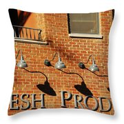 Fresh Produce Signage Throw Pillow