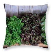 Fresh Produce Stand Throw Pillow