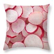 Fresh Radishes Throw Pillow