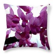Fresh Redbud Blooms Throw Pillow