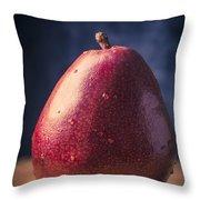 Fresh Ripe Red Pear Throw Pillow
