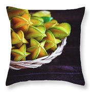 Fresh Ripe Starfruits Throw Pillow