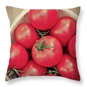 Fresh Ripe Tomatoes Throw Pillow