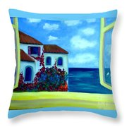 Fresh Sea Air Throw Pillow