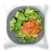 Fresh Seafood Salad With Smoked Salmon Throw Pillow
