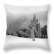 Fresh Snow On The Trees Throw Pillow