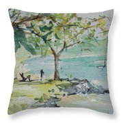 Fresh Spring On West Bay Throw Pillow