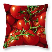 Fresh Tomotos On The Vine Throw Pillow