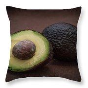 Fresh Whole And Half Avocado Throw Pillow