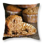 Freshly Baked Muffins Throw Pillow