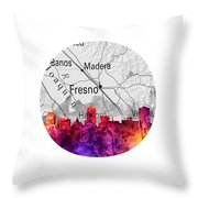 Fresno California 14rd Throw Pillow