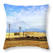 Fresno County Pastoral Throw Pillow
